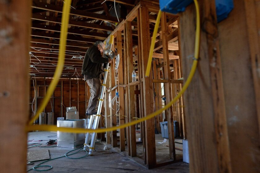"""HGTV has scrapped plans for """"Flip It Forward"""" amid controversy over the views of one of the show's intended stars. Above, a home in Concord, Calif., is renovated last month as part of an existing HGTV show """"Flip-it-to-win-it."""""""