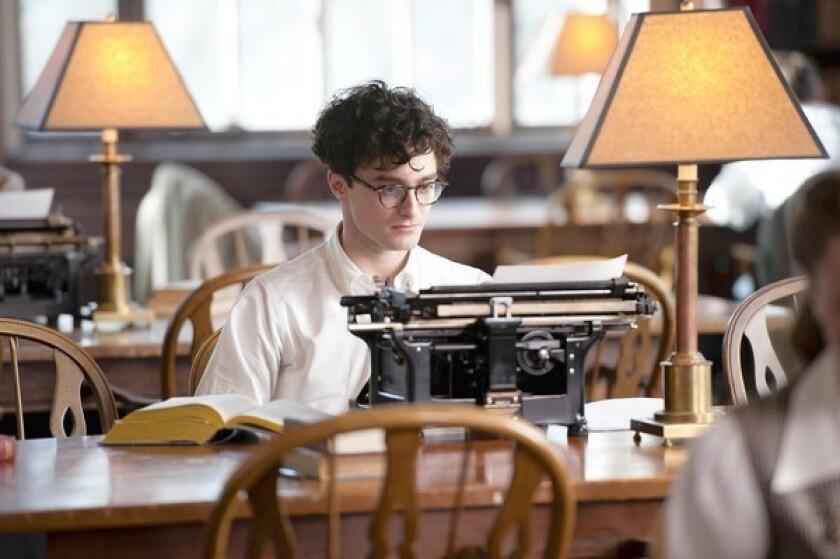 "Daniel Radcliffe stars as Allen Ginsberg in ""Kill Your Darlings."""