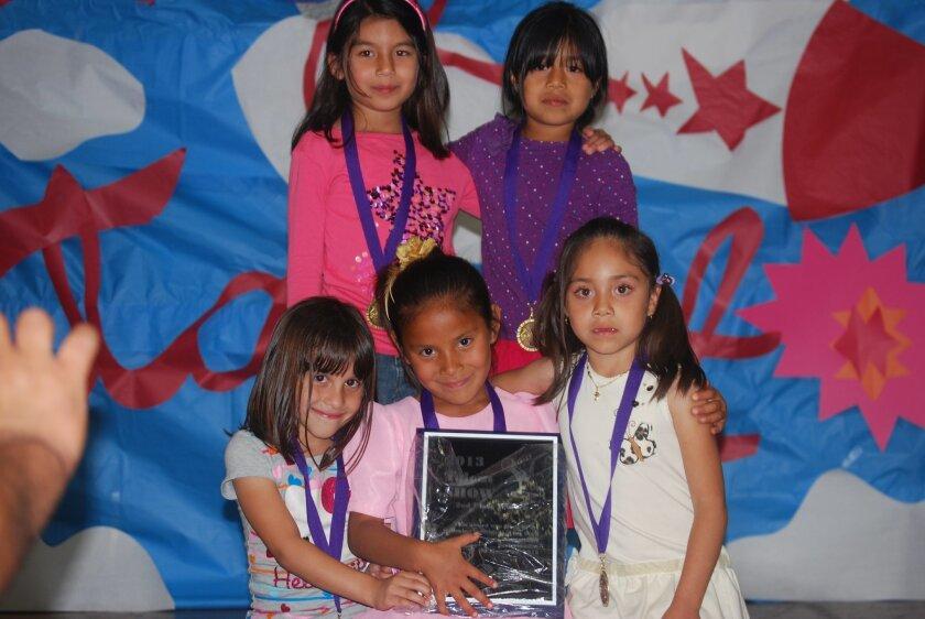 Second place winners   Lauren Gonzalez, Briana Jesus, Abigail Taylor, Jocelyn Garcia, Marlene Zaragoza.
