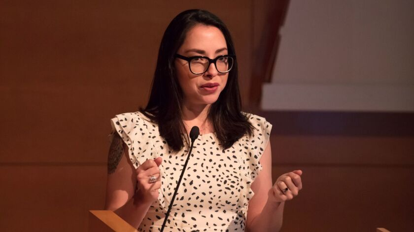 Betty Avila of Self-Help Graphics delivers a keynote speech to the 2017 Getty Foundation multicultur