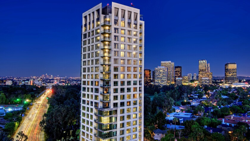 A 3,813-square-foot residence at the Beverly West high-rise in Westwood sold for $10 million, or $300,000 less than the asking price. The 21-story building, which overlooks the Los Angeles Country Club, is wrapped in marble and glass and has a saltwater swimming pool.