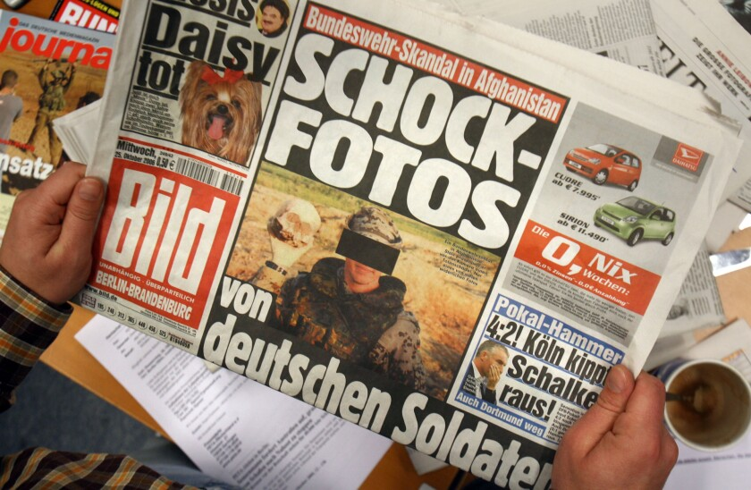 Bild, Germany's biggest-selling newspaper, says it will no longer publish photos of topless female models.