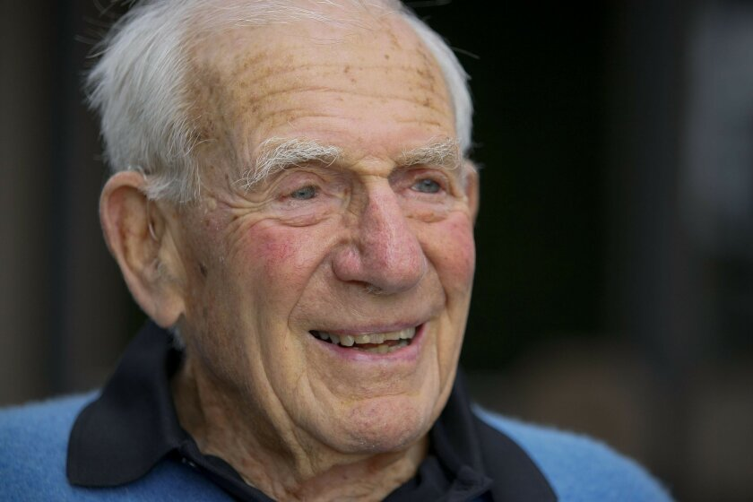 Walter Munk of the Scripps Institution of Oceanography at UC San Diego has been floating practical and visionary ideas for a long time. John R. McCutchen 2010 U-T file photo
