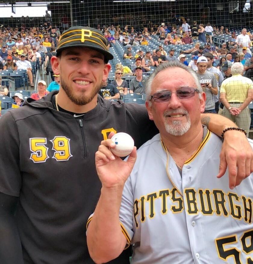 Joe Musgrove and his father, Mark.