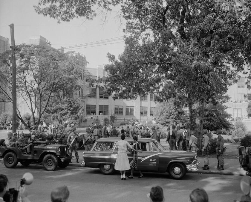 Little Rock school desegregation 1957