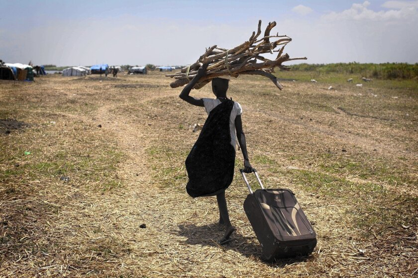 South Sudanese woman displaced by ethnic violence