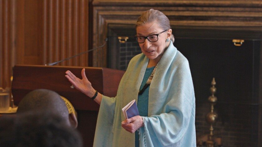 """Ruth Bader Ginsburg appears in """"RBG"""" by Betsy West and Julie Cohen, an official selection of the Doc"""