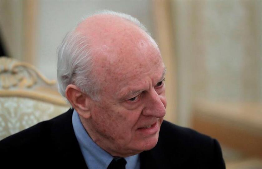 La comisión constitucional siria pactada hoy en Sochi (Rusia) estará formada por entre 45 y 50 miembros elegidos por Naciones Unidas, según el enviado de la organización para el conflicto, Staffan de Mistura. EFE/ARCHIVO