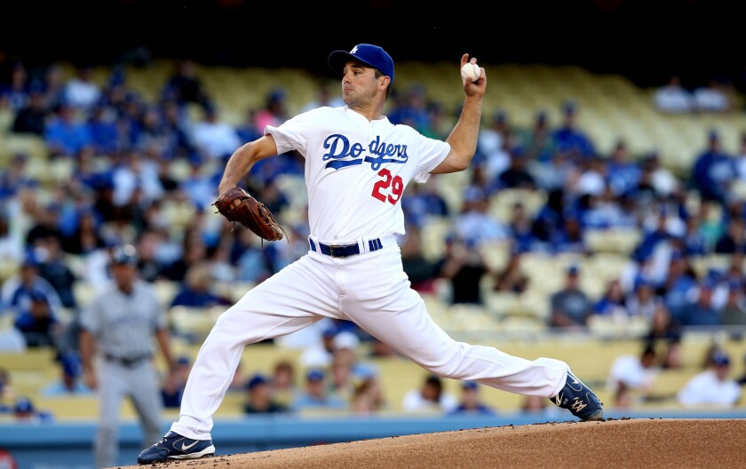 Dodgers pitcher Ted Lilly missed nearly a month with neck and shoulder soreness earlier this season.