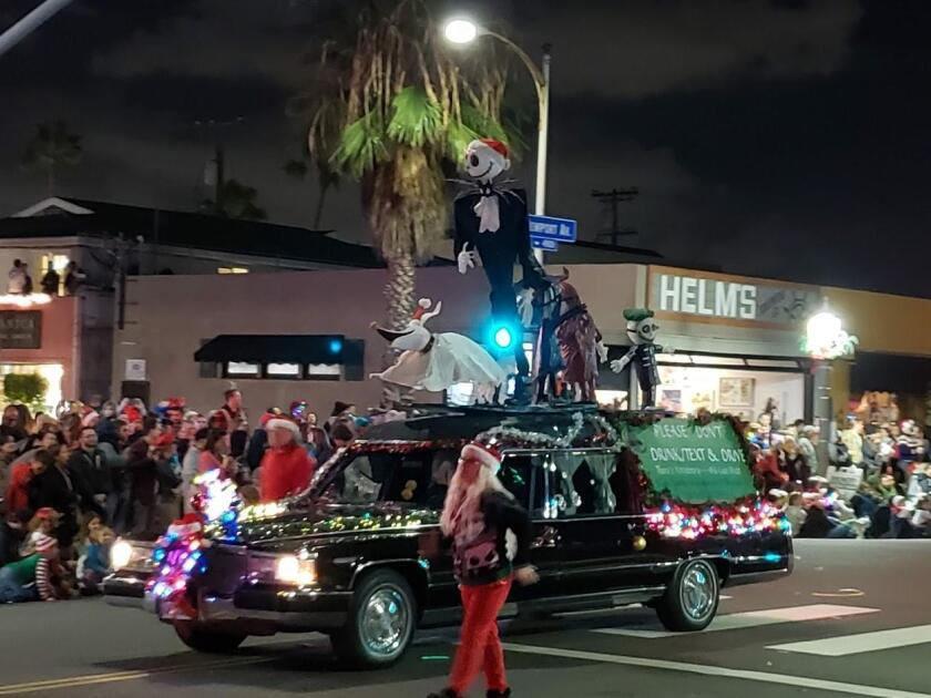 This float reminded the crowd of what could happen when you text and drive.