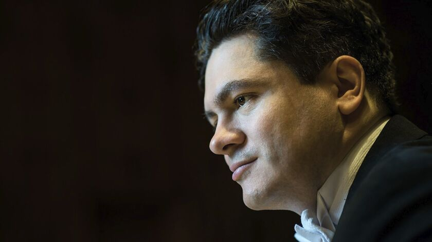 Cristian Măcelaru conducted the San Diego Symphony Friday, Jan. 20.