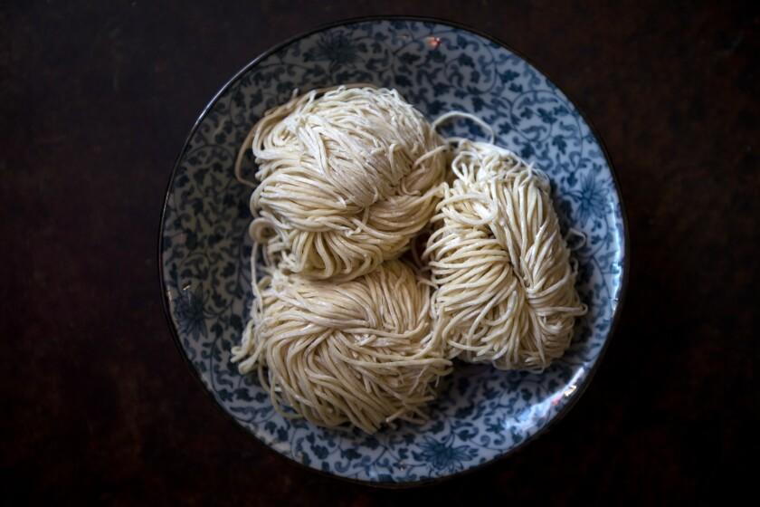 House made ramen noodles at Izakaya Kichinto