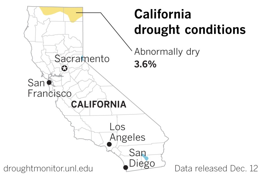 Recent rains have mostly washed California's drought away