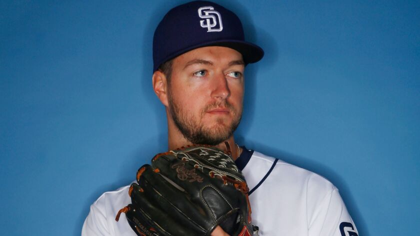 San Diego Padres pitcher Colin Rea.