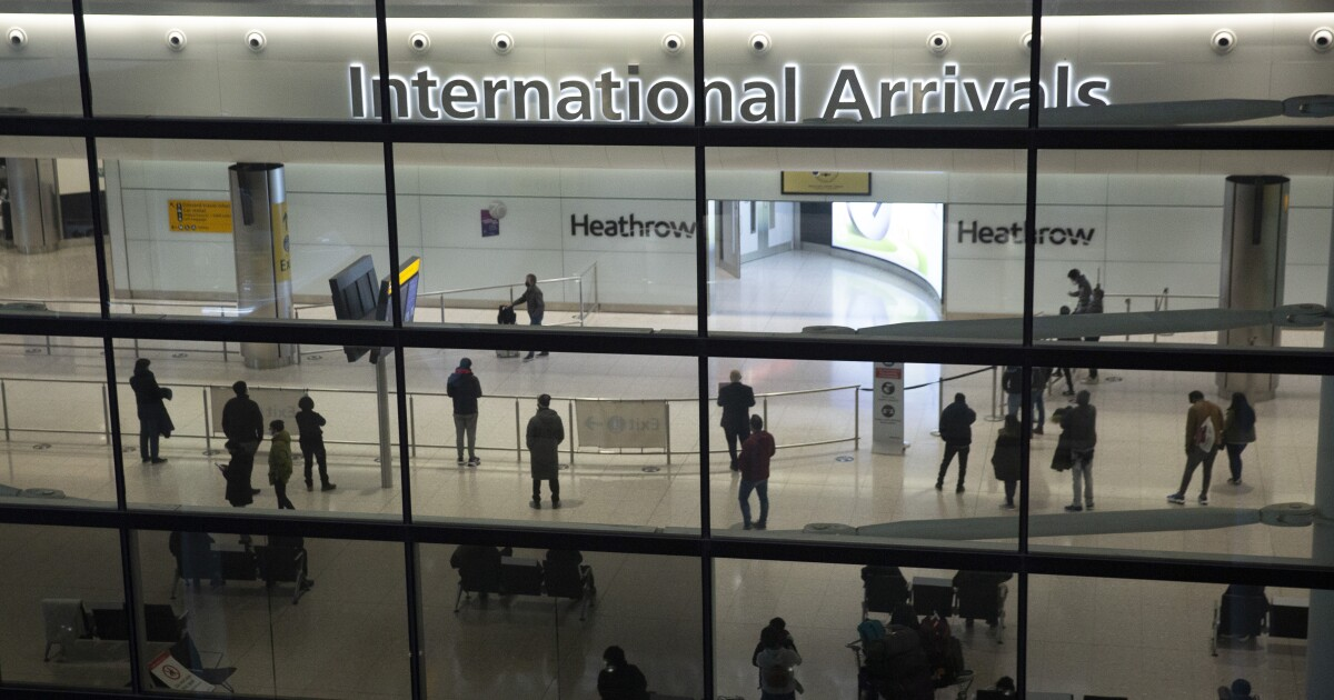 Britain ends quarantine for vaccinated visitors from U.S. and European Union