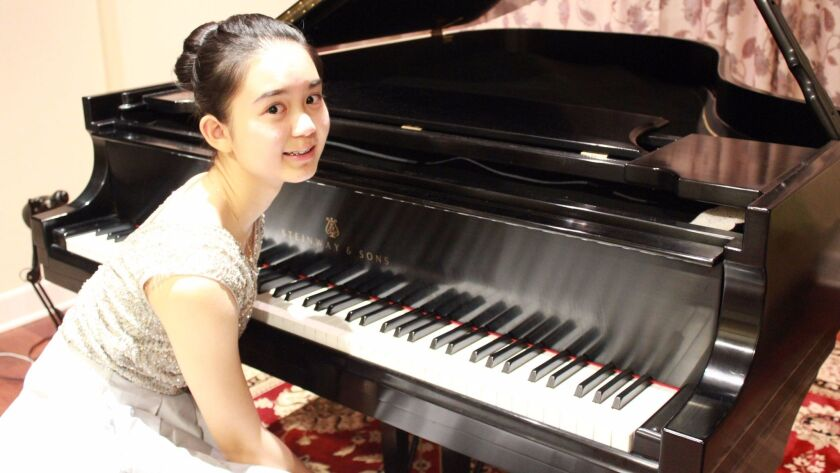 Pianist Anne Liu, 15, a sophomore at Canyon Crest Academy, won first place in the instrumental category.