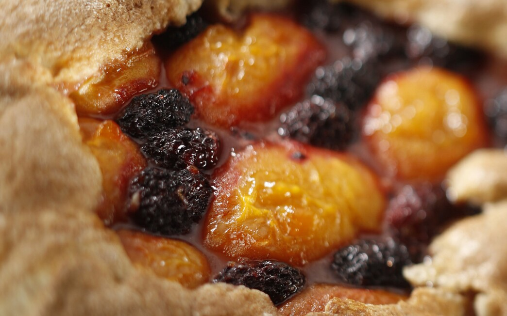 Apricot boysenberry tarts
