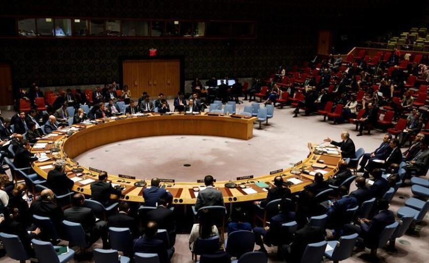 Vista general de el Consejo de Seguridad de la ONU. EFE/Archivo
