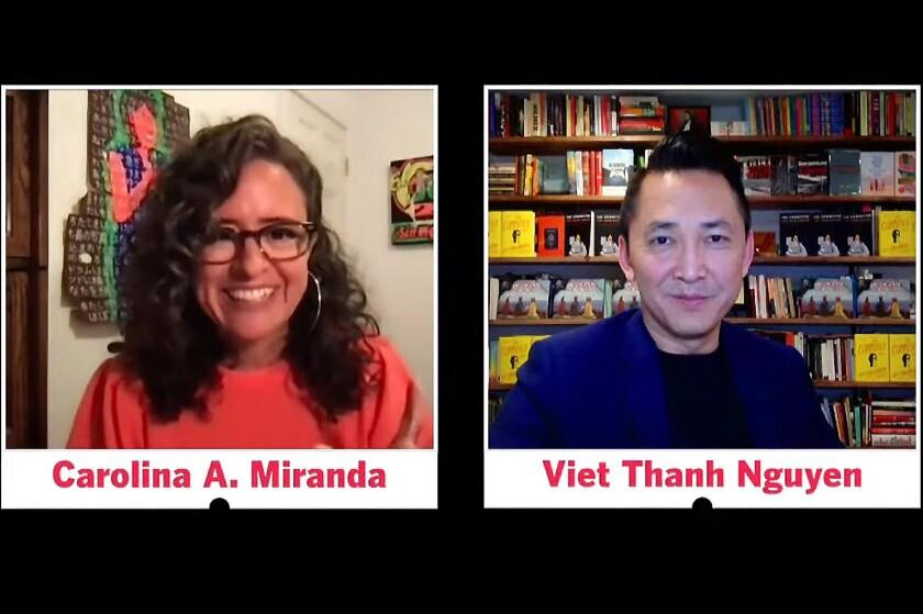 Author Viet Thanh Nguyen in conversation with Times columnist Carolina A. Miranda.