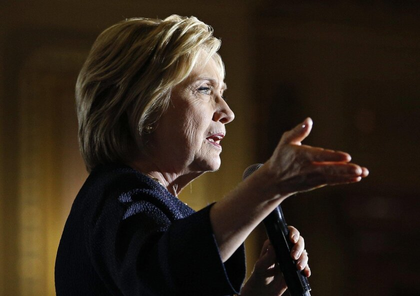 Democratic presidential nominee: Hillary Clinton