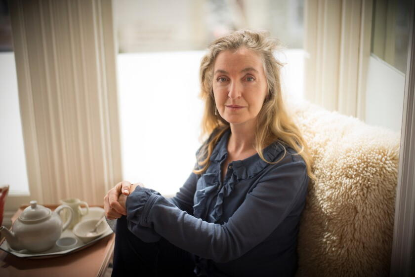 Author Rebecca Solnit poses at her home in San Francisco.