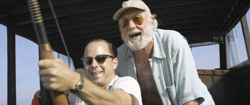 """Giovanni Ribisi, left, and Adrian Sparks in """"Papa Hemingway in Cuba."""""""
