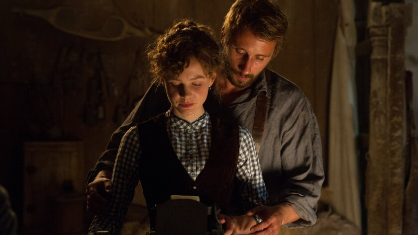 Matthias Schoenaerts plays a broad-shouldered shepherd named Gabriel Oak hoping to win the heart of Carey Mulligan.