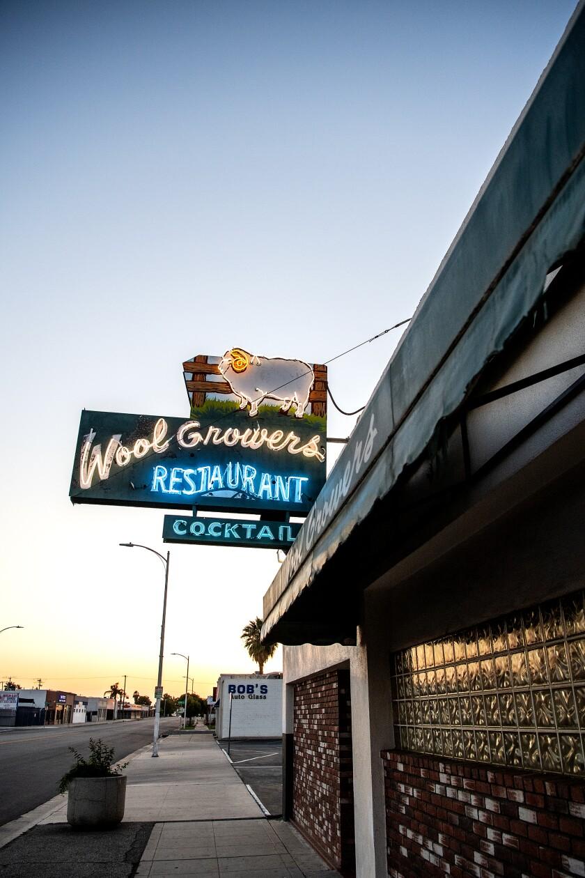 Wool Growers restaurant in Bakersfield has been open since 1954.