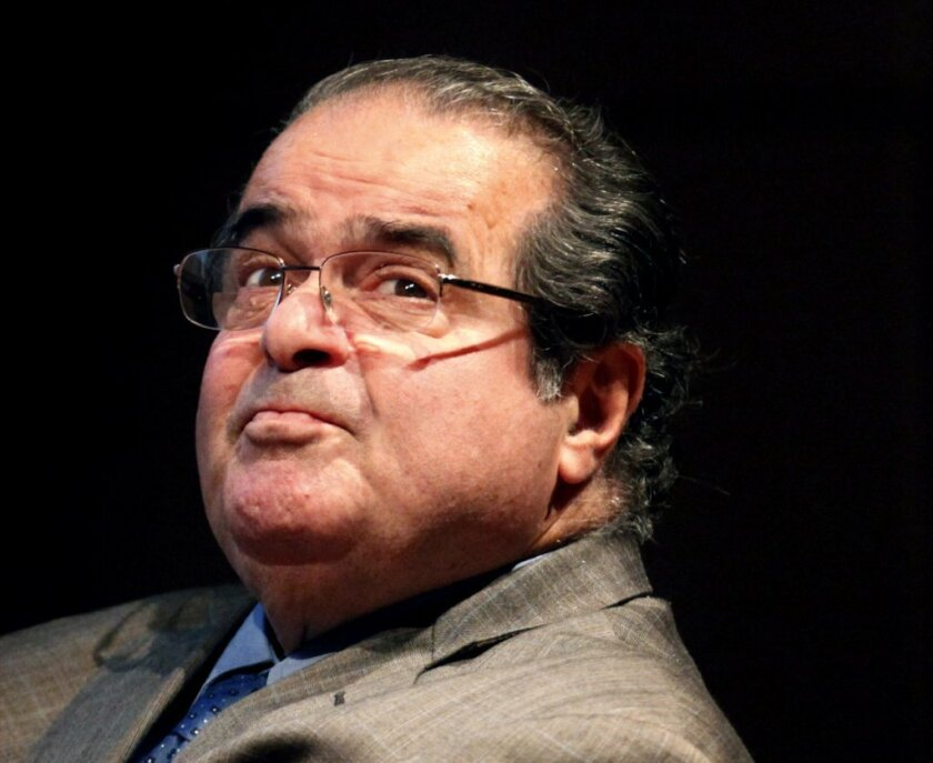 """In his dissenting opinion to the Supreme Court's same-sex marriage ruling, Justice Antonin Scalia, shown in 2011, noted that the court's geographic origins don't reflect the rest of the nation, and that """"California does not count."""""""