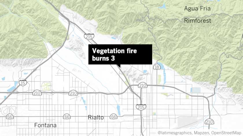 3 burned in wind-driven fire that's growing in San