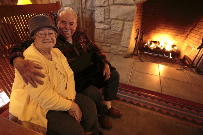 Bob and Shirley Welch of Pleasanton, Calif., celebrated their honeymoon at Crater Lake, then returned to the Crater Lake Lodge Years later to celebrate again.