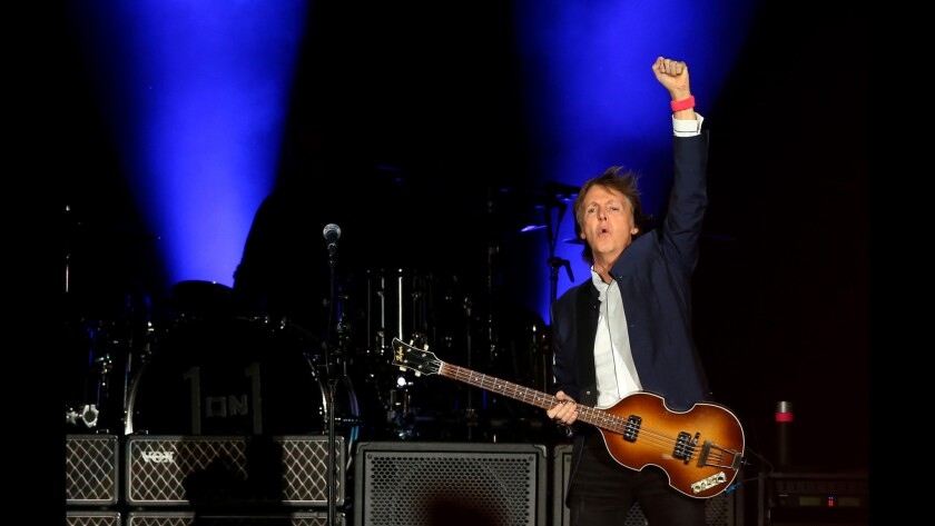 Paul McCartney takes the stage during the second weekend of last year's Desert Trip in Indio.