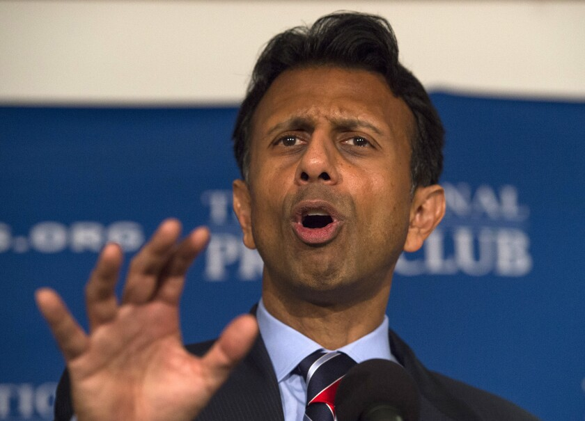 """Louisiana Gov. Bobby Jindal, who once warned against the GOP becoming the """"stupid party,"""" is now leading the parade."""