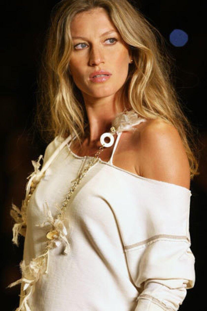 Brazilian supermodel Gisele Bundchen.