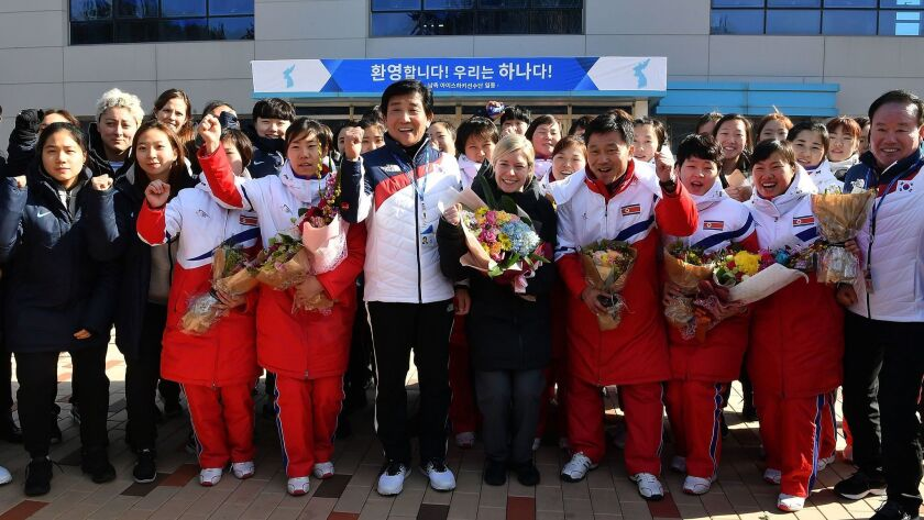 North Korean Olympic Advance Team and Women's Ice Hockey Players Arrive in South Korea