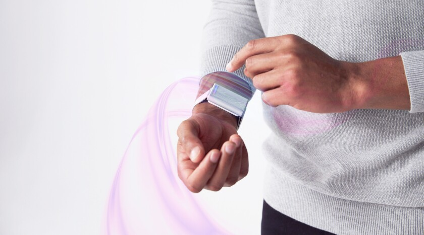 The Embr Wave device can make you feel hotter or cooler.
