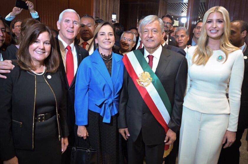 Ivanka Trump publicó esta fotografía en Twitter junto al presidente mexicano.