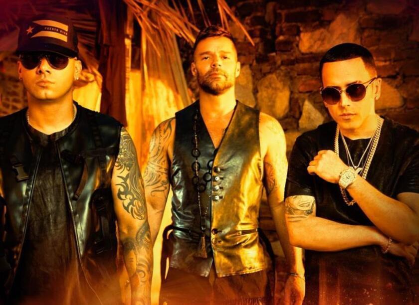 Ricky Martin secundado por Wisin y Yandel, los raperos que se unen nuevamente en el nuevo sencillo del astro del pop.