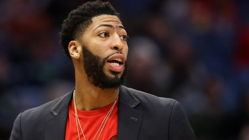Five-time All-Star Anthony Davis is currently sidelined because of a fractured finger.