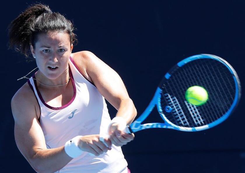 En la imagen un registro de la tenista española Lara Arruabarrena. EFE/Archivo