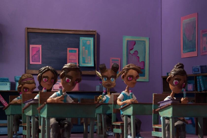 """A still from the animated short """"Miguel,"""" directed by Armando Sepulveda Mendoza."""