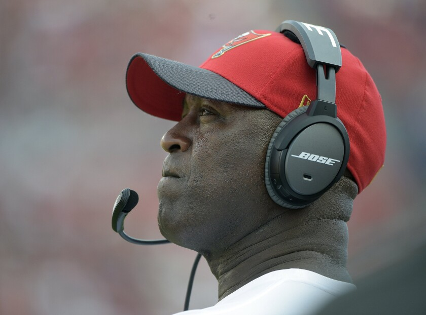 Lovie Smith is fired as the coach of the Tampa Buccaneers