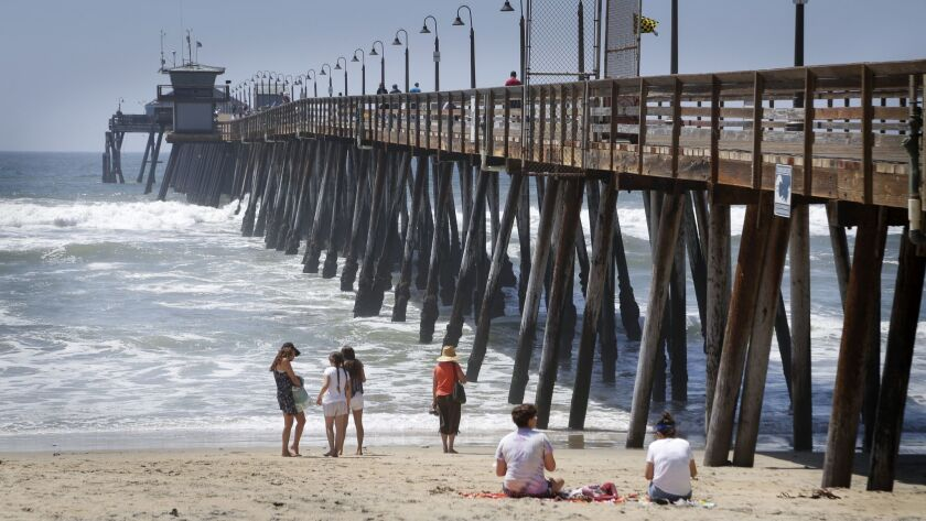 In this 2017 file photo, visitors relax along the Imperial Beach Pier.