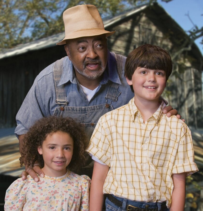 """Alexis Rae Tenney, Antonio """"T.J."""" Johnson and Avery Solsbak (left to right) in """"The Glory Man."""""""