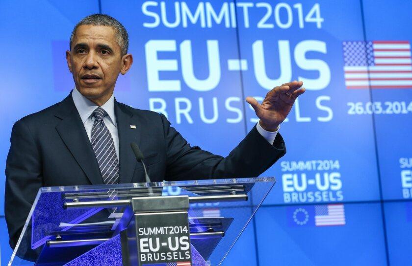 President Obama visits EU Council