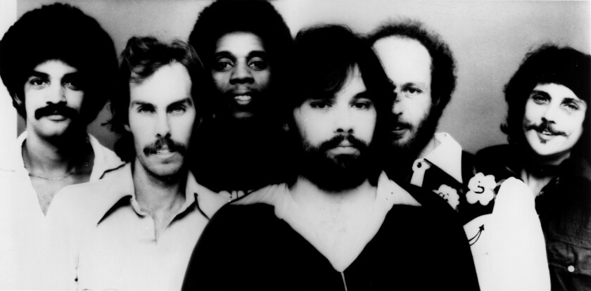 The members of Little Feat in the band's heyday in the mid-1970s. Shown from left are Kenny Gradney, Billy Payne, Sam Clayton, Lowell George, Paul Barrere and Richie Hayward.
