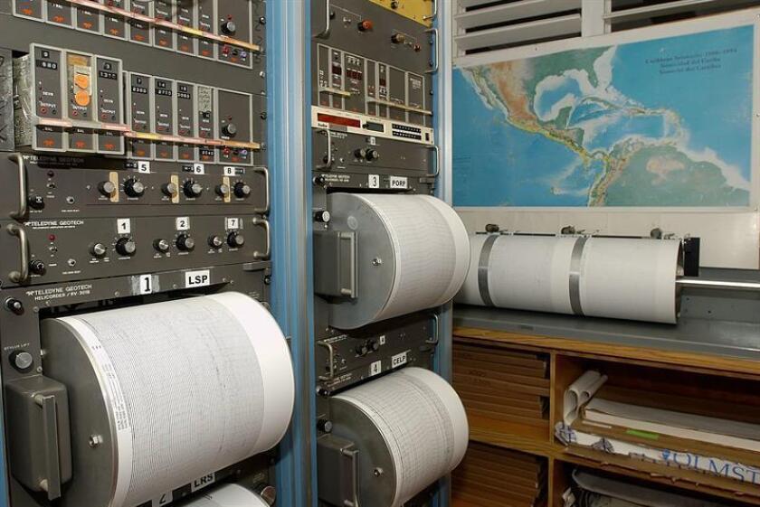 Sistemas de monitoreo y documentación de movimientos sísmicos de la Red Sísmica de Puerto Rico, la cual se encuentra en el Recinto Universitario de Mayagüez (RUM) de la Universidad de Puerto Rico. EFE/ARCHIVO