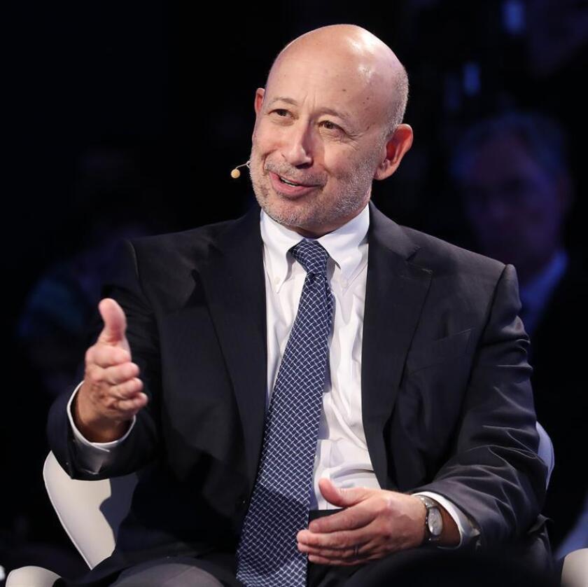 El consejero delegado de Goldman Sachs, Lloyd Blankfein, durante una conferencia de prensa. EFE/Archivo