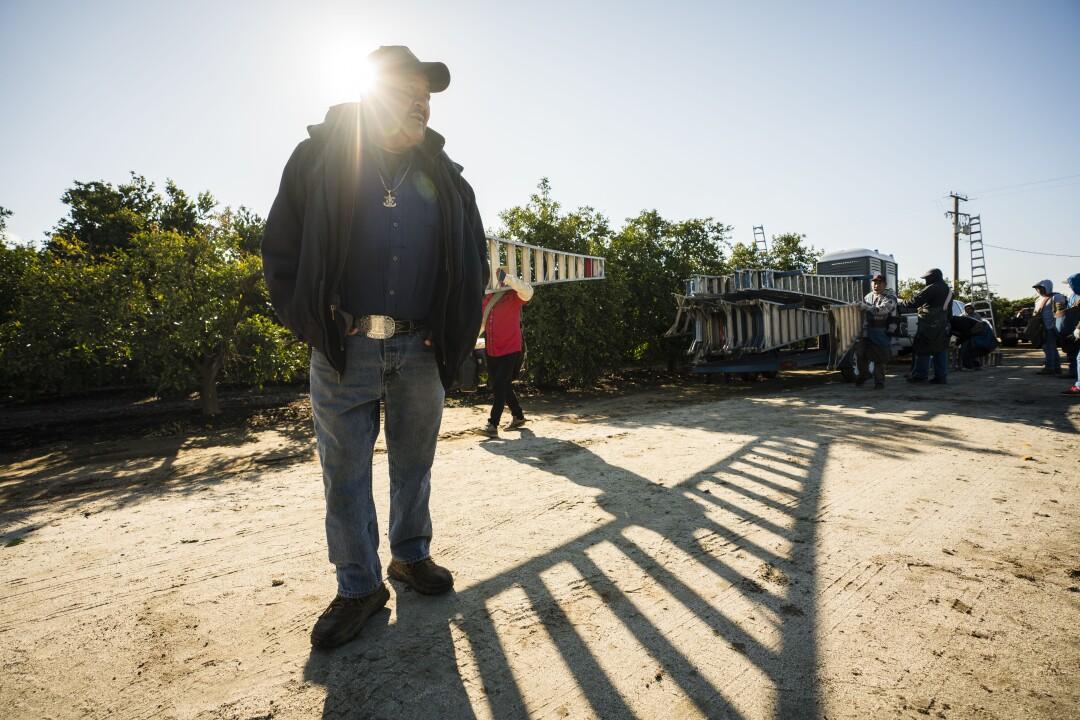 Farmworker Carlos Garcia
