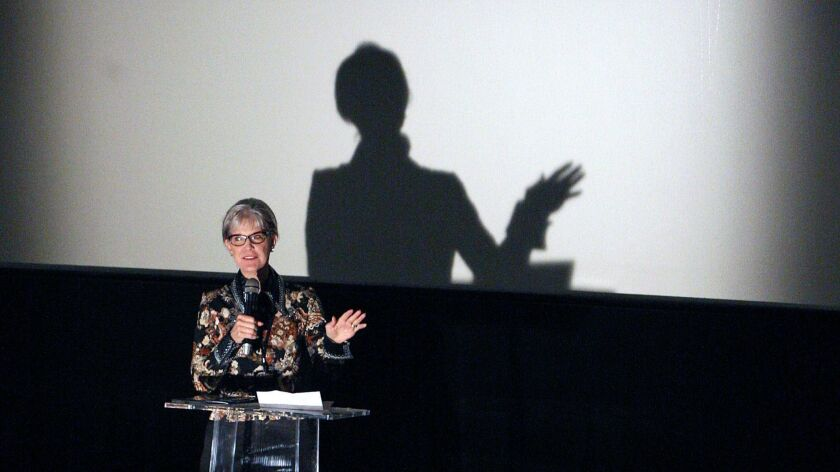 Burbank Vice Mayor Emily Gable-Luddy introduces the movie The List and invites everyone to a recepti
